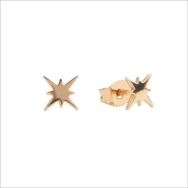 Goldfarbene ALLTHELUCKINTHEWORLD Ohrringe PARADE EARRINGS STARBURST - large
