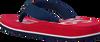 Rote TOMMY HILFIGER Pantolette BASEBALL PRINT FLIP FLOP  - small