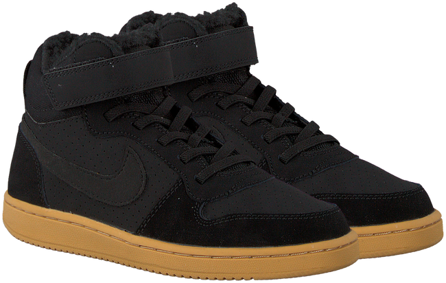 Schwarze NIKE Sneaker COURT BOROUGH MID WINTER KIDS - large