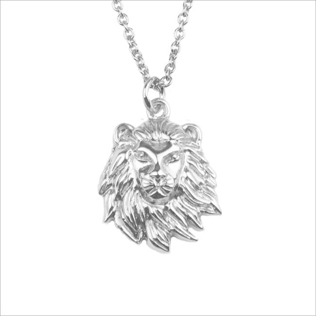 Silberne ALLTHELUCKINTHEWORLD Kette SOUVENIR NECKLACE LION - large