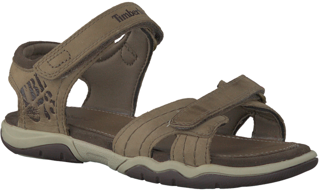 Taupe TIMBERLAND Sandalen OAK BLUFFS LEATHER 2 STRAP KID - large