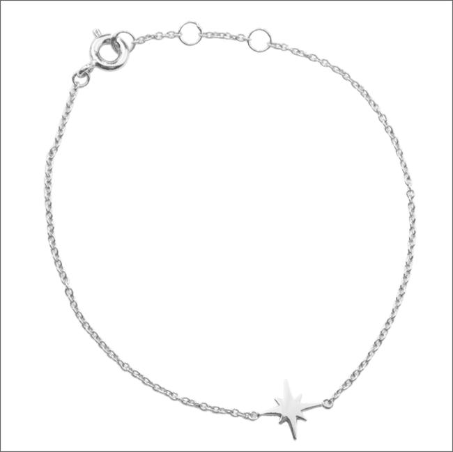 Silberne ALLTHELUCKINTHEWORLD Armband SOUVENIR BRACELET STAR BURST - large