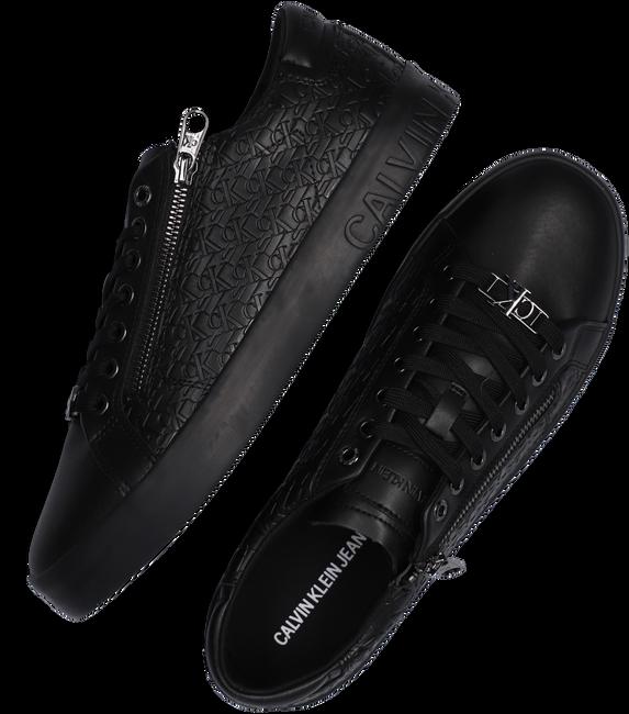 Schwarze CALVIN KLEIN Sneaker low VULCANIZED LACEUP ZIP  - large