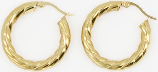 Goldfarbene NOTRE-V Ohrringe OORBEL GEDRAAID KGkmc