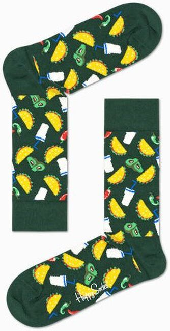Grüne HAPPY SOCKS Socken TACO  - large
