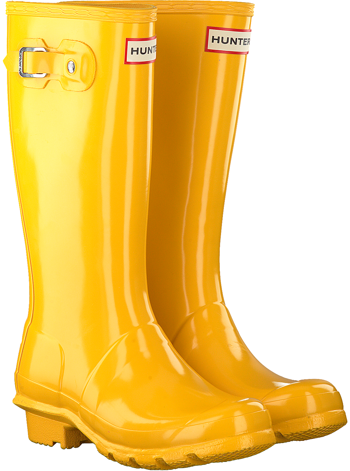 huge discount ac06f c2408 Gelbe HUNTER Gummistiefel ORIGINAL KIDS GLOSS
