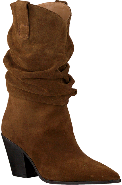 Cognacfarbene TORAL Hohe Stiefel 12558  - large