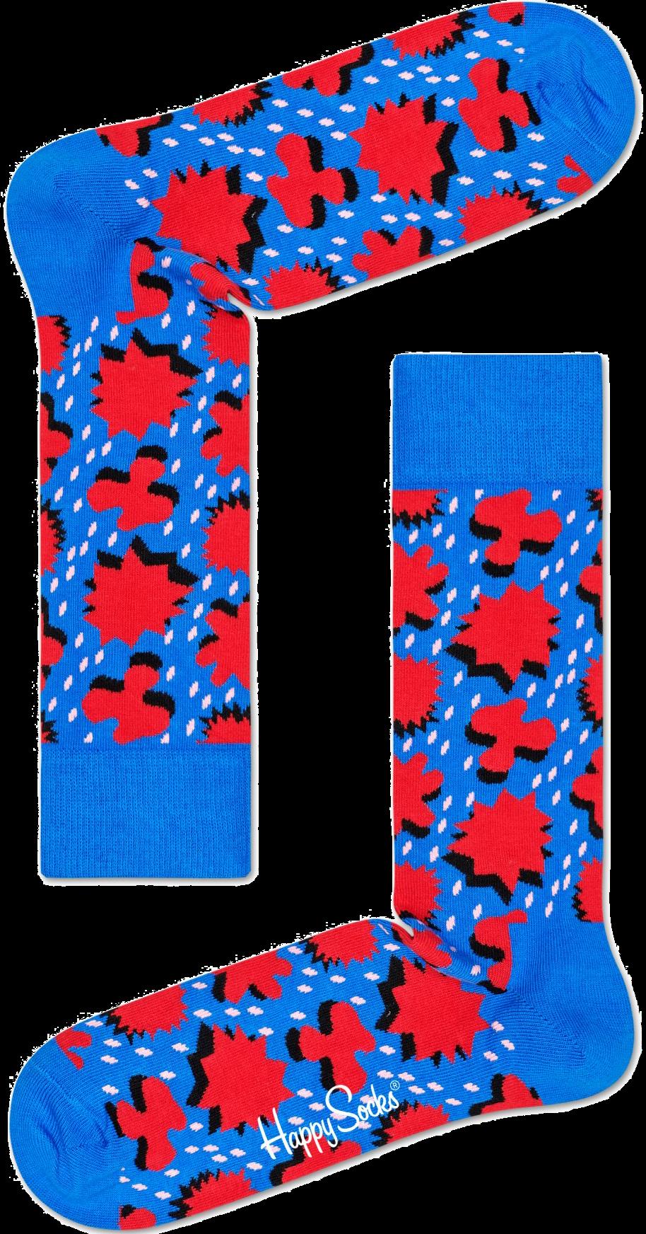 Blaue HAPPY SOCKS Socken COMIC RELIEF cdxxo