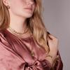 Goldfarbene NOTRE-V Ohrringe OORBEL SCHAKEL ROND  - small