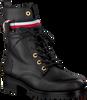 Schwarze TOMMY HILFIGER Biker Boots CORPORATE RIBBON  - small
