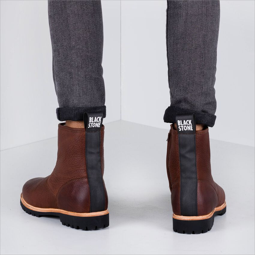 Braune BLACKSTONE Ankle Boots SG54  - larger