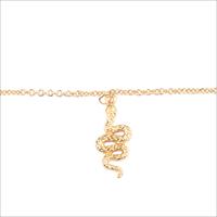 Goldfarbene ALLTHELUCKINTHEWORLD Armband SOUVENIR BRACELET SNAKE - medium