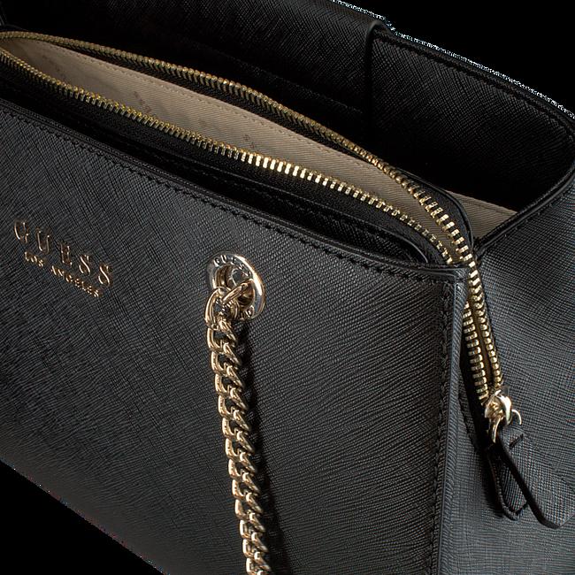 Schwarze GUESS Handtasche ROBYN GIRLFRIEND SATCHEL  - large