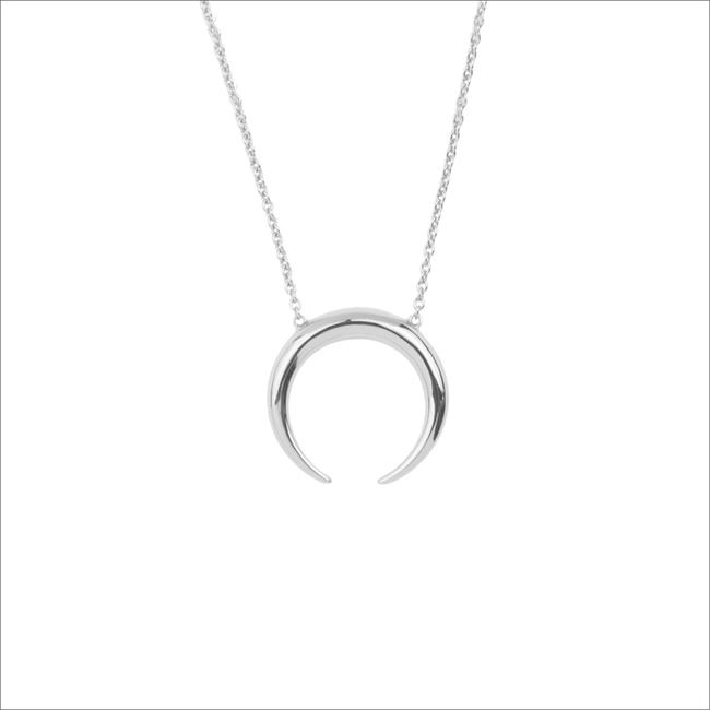 Silberne ALLTHELUCKINTHEWORLD Kette SOUVENIR NECKLACE HORN - large