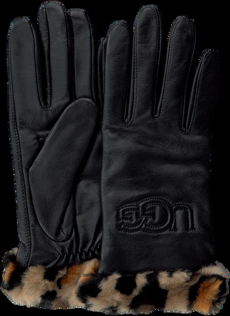 Schwarze UGG Handschuhe CUFF LOGO TECH  - large