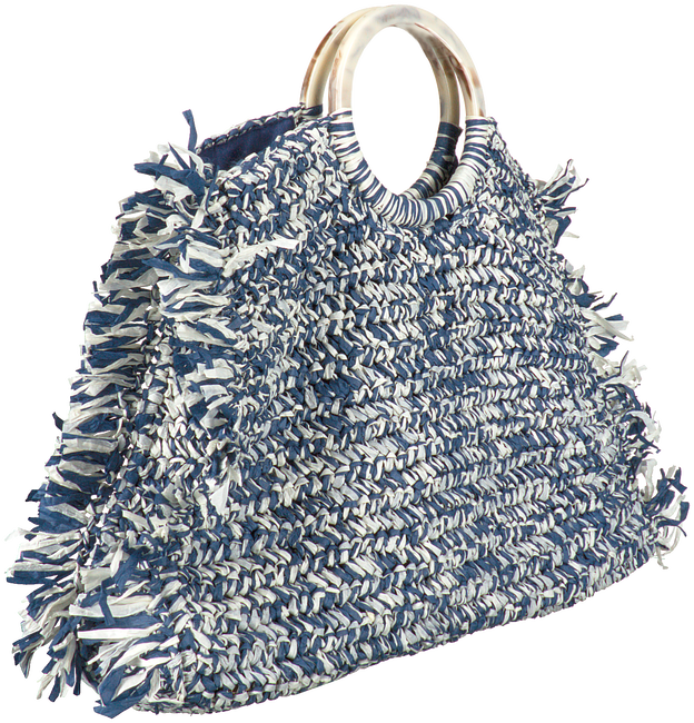 Blaue BECKSONDERGAARD Handtasche MIX FALKA BAG  - large