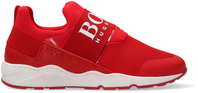 Rote BOSS KIDS Sneaker low BASKETS  - large
