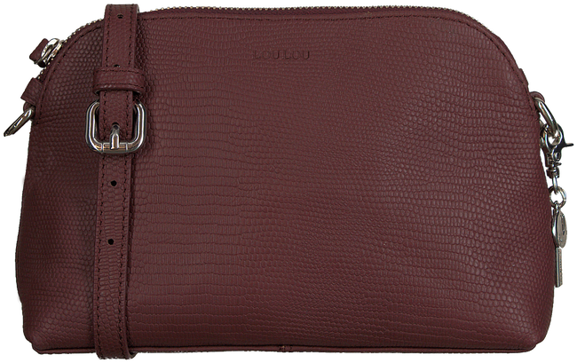 Rote BY LOULOU Handtasche SMALL LOVELY LIZARD - large