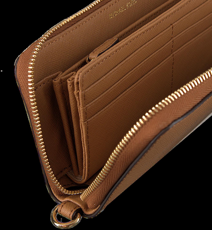 cognacfarbene michael kors portemonnaie travel continental schuhmode online. Black Bedroom Furniture Sets. Home Design Ideas