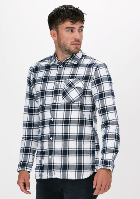 Weiße TOMMY JEANS Casual-Oberhemd TJM FLANNEL PLAID SHIRT - large