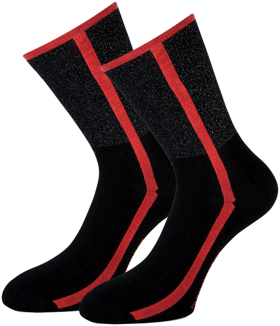 Rote MARCMARCS Socken DEBORAH COTTON - large