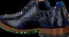 Blaue REHAB Business Schuhe GREG CROCO  - small