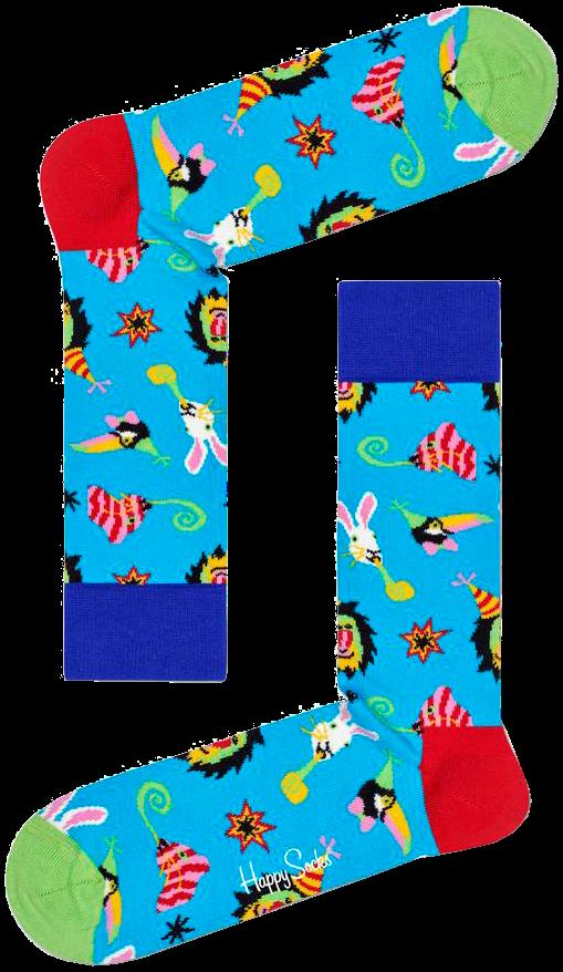 Blaue HAPPY SOCKS Socken PARTY ANIMAL nDxem