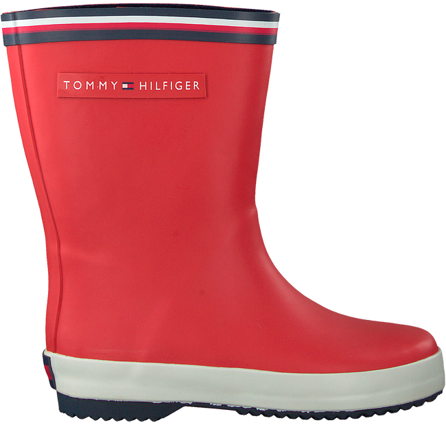 Rote TOMMY HILFIGER Gummistiefel T3X6-30250- RAINBOOT  - large