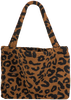 Braune STUDIO NOOS Shopper TEDDY LEOPARD MOM-BAG  - small