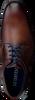 Cognacfarbene BRAEND Schnürschuhe 15943 - small