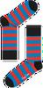 Rote HAPPY SOCKS Socken STRIPE - small