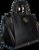 Schwarze GUESS Handtasche OPEN ROAD SOCIETY SATCHEL  - small