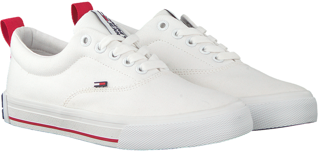 Weiße TOMMY HILFIGER Sneaker low LOWCUT ESSENTIAL  - large