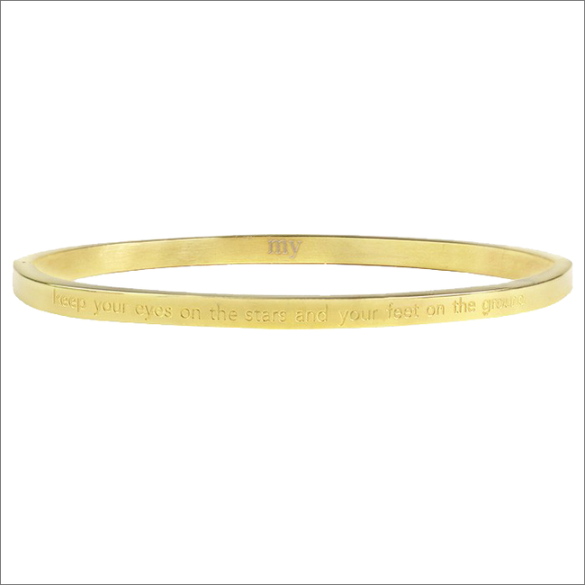 Goldfarbene MY JEWELLERY Armband KEEP YOUR EYES ON THE STARS - large