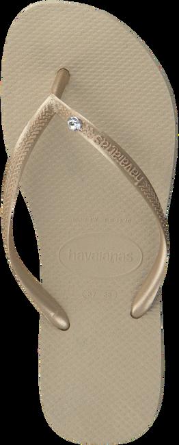 Beige HAVAIANAS Zehentrenner SLIM CRYSTAL GLAMOUR - large