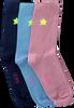 Mehrfarbige/Bunte LE BIG Socken TAMELA SOCK 3-PACK  - small