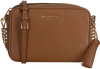 Cognacfarbene MICHAEL KORS Umhängetasche MD CAMERA BAG  - small