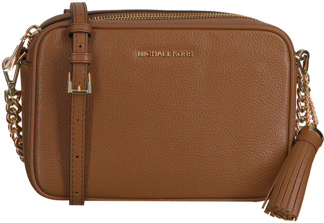 Cognacfarbene MICHAEL KORS Umhängetasche MD CAMERA BAG  - large
