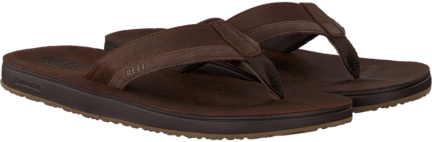 Braune REEF Pantolette CONTOURED CUSHION  - larger