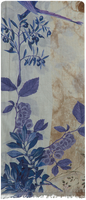 Blaue NOTRE-V Schal INDIA  - medium