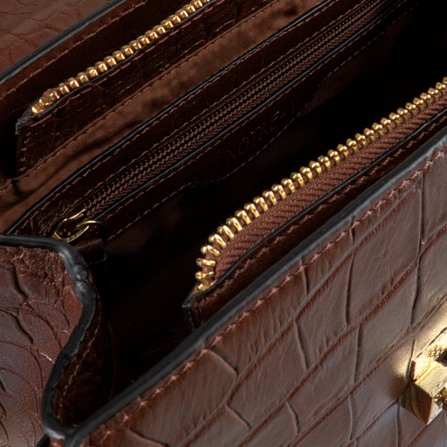 Cognacfarbene NOTRE-V Handtasche NOELLE  - large