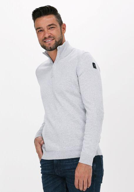 Hellgrau VANGUARD Sweater HALF ZIP COLLAR COTTON MELANGE - large
