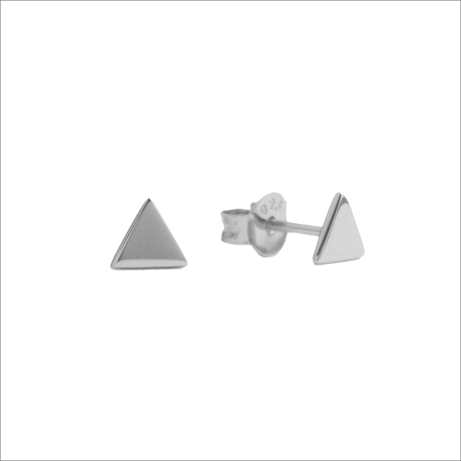 Silberne ALLTHELUCKINTHEWORLD Ohrringe PARADE EARRINGS TRIANGLE - large