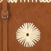 Cognacfarbene UNISA Handtasche ZGOLUM - small