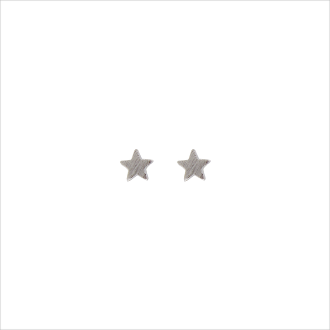 Silberne ALLTHELUCKINTHEWORLD Ohrringe PETITE EARRINGS STAR - large