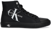 Schwarze CALVIN KLEIN Sneaker high VULCANIZED HIGHLACEUP  - small