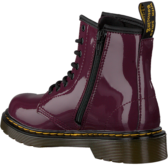 Rote DR MARTENS Schnürboots 1460 PATENT J  - large