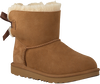 Cognacfarbene UGG Ankle Boots MINI BAILEY BOW II KIDS - small