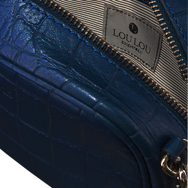 Blaue BY LOULOU Portemonnaie SHINY CROCO - large