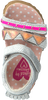 Silberne SHOESME Sandalen BI9S080 - small